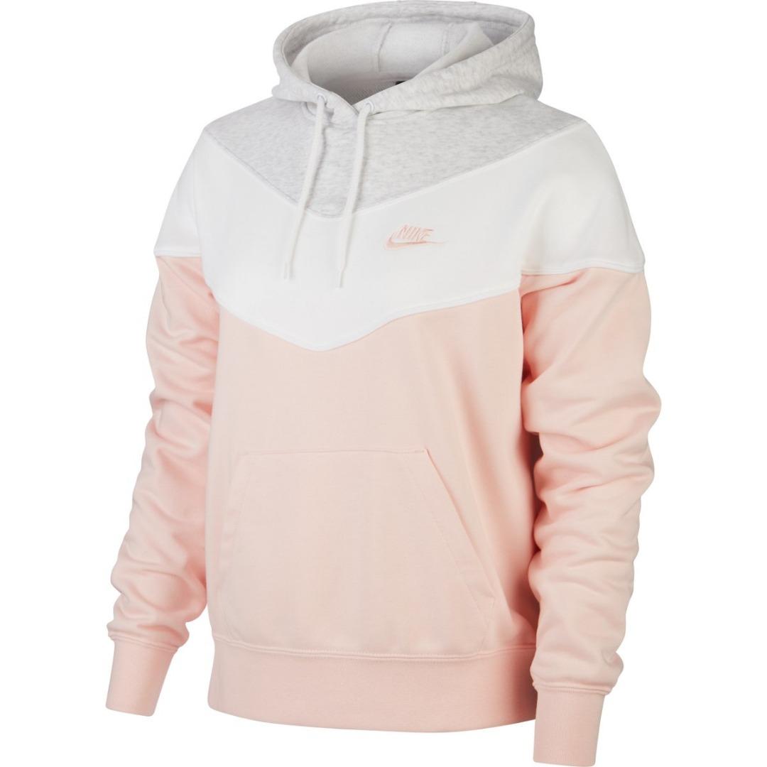 Nike Hoody Rosa-Grigio Donna 1