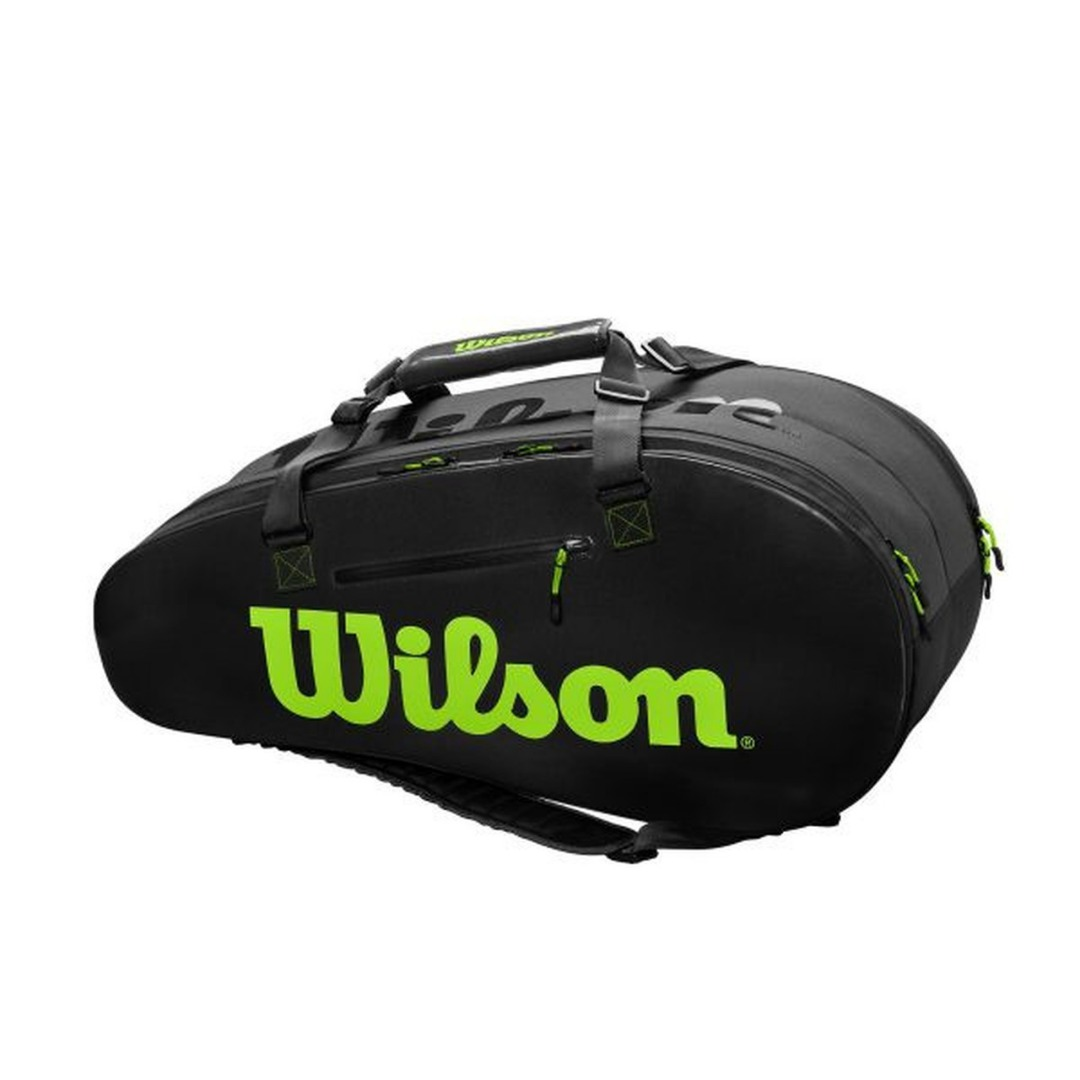 Wilson Super Tour 2 Comp Large Bag Grigio-Verde 1