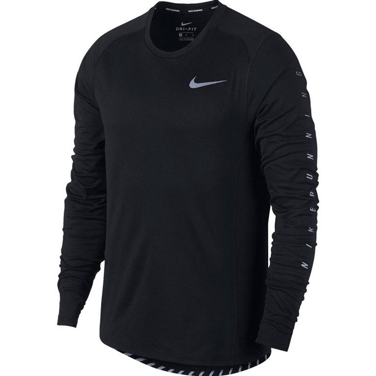 Nike Miler Reflective LS Nero Uomo 1