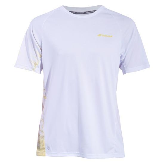 Babolat Perf Crew Neck T-shirt Bianco/Giallo  Bambino