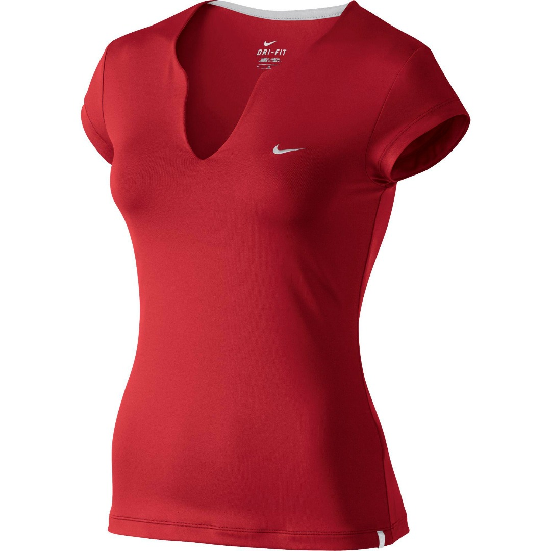 Nike Pure T-Shirt Rosso Donna 1