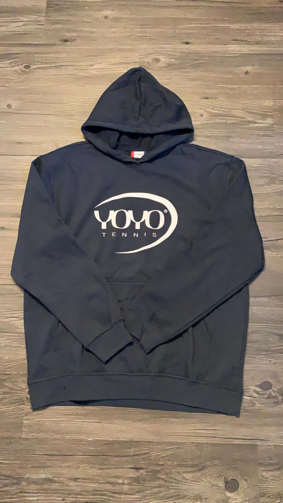 YOYO-TENNIS Hoody Navy con Logo Bianco