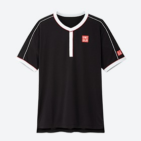 Uniqlo Polo Roger Us Open Nero Uomo