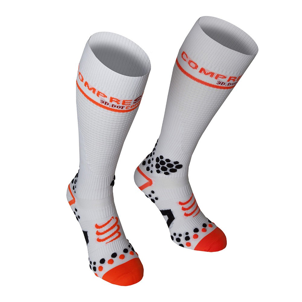 Compressport Calze FullSocks V2 Bianche Medium 1