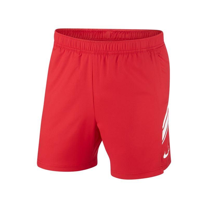 Nike Basic Short Woven 7 Rosso con Logo Bianco Uomo