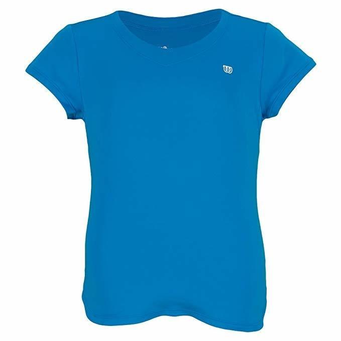 Wilson T-Shirt SLV V Neck Blu Bambina