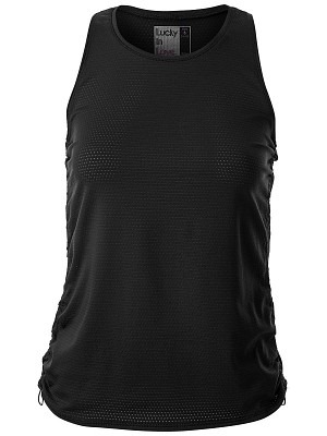 Lucky in Love Airy Cinch Tank Nero Donna