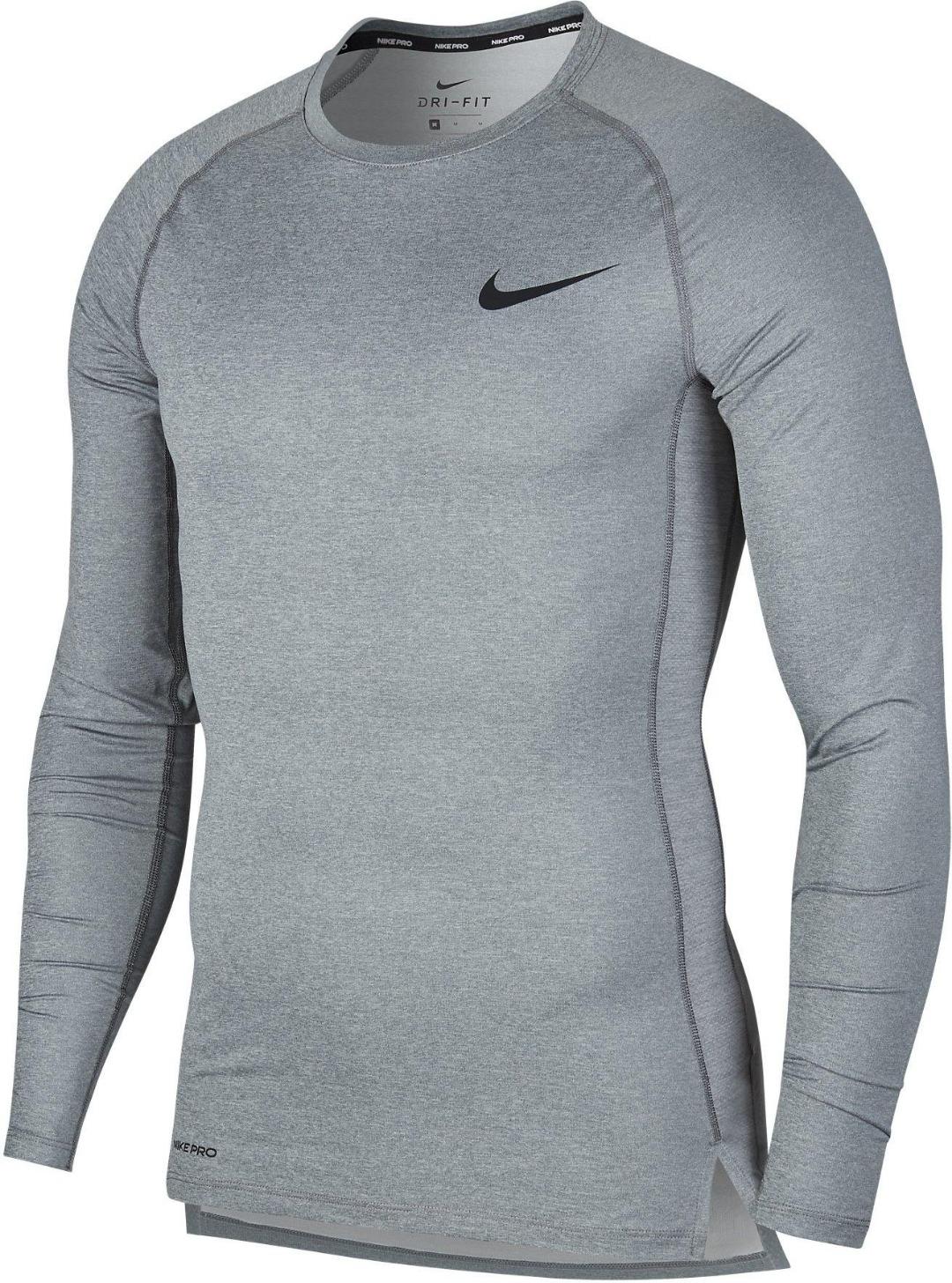 Nike Pro Long-Sleeve Top Grigio Uomo 1