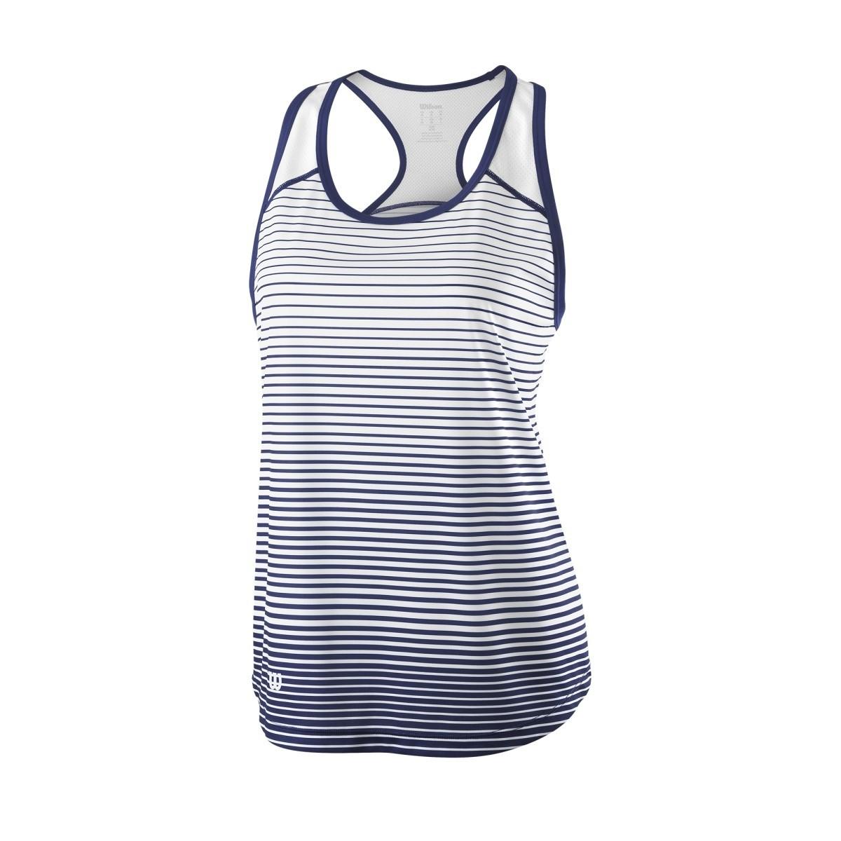 Wilson Team Striped Tank Bianco-Blu Donna