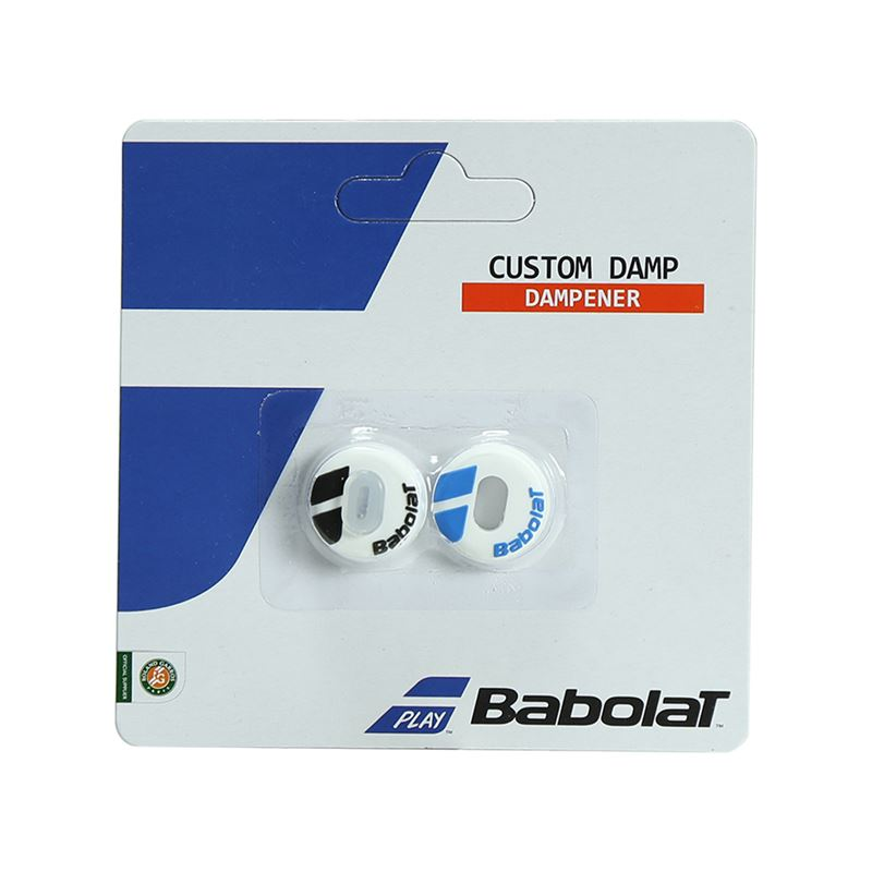 Babolat New Custom Damp Bianco-Blu (2x) 1