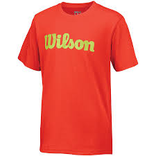 Wilson Script Cotton Tee Grigio Bambino