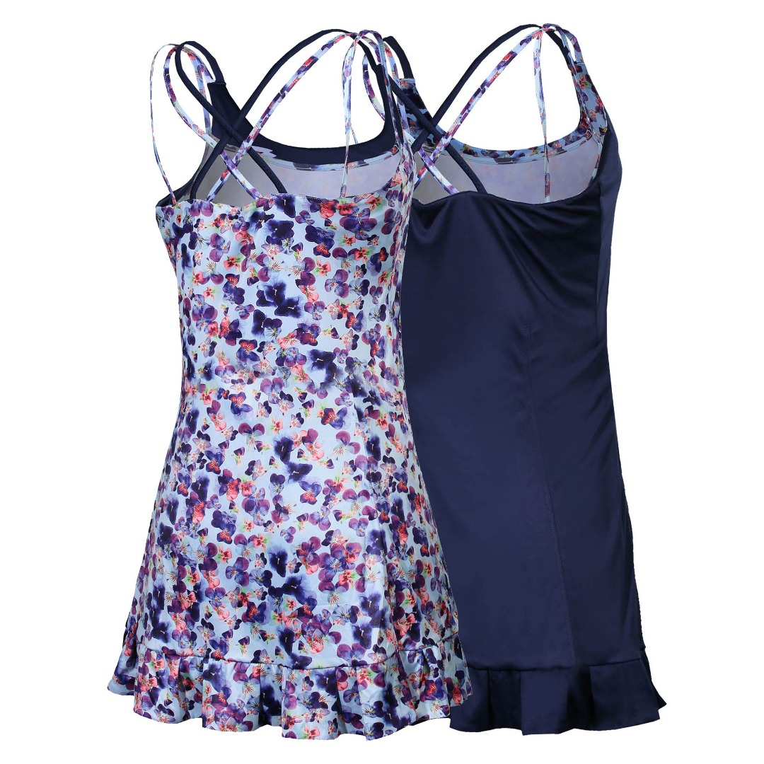 Lotto Vestito Twice Primavera Azzurro-Fiori Donna