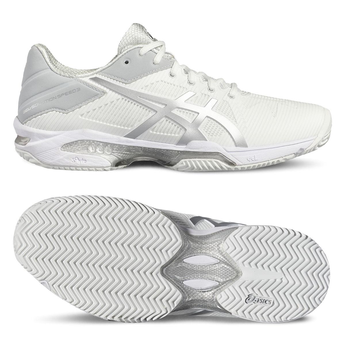 Asics Gel-Solution Speed 3 Clay Bianco Donna