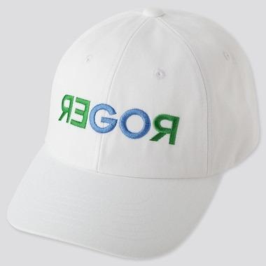 Uniqlo Cappellino Bianco Scritta Verde
