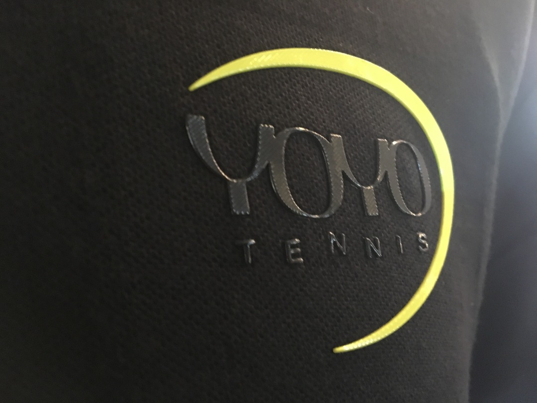 YOYO-TENNIS Polo Polyester Nera Uomo