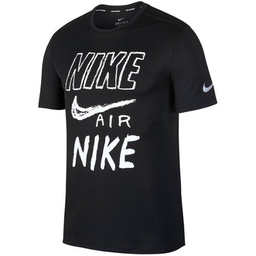 Nike T-Shirt Graphic Run Black Uomo
