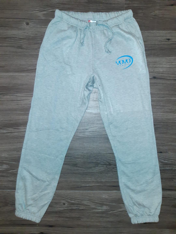 YOYO-TENNIS Pants Grigio Melange con Logo Blu