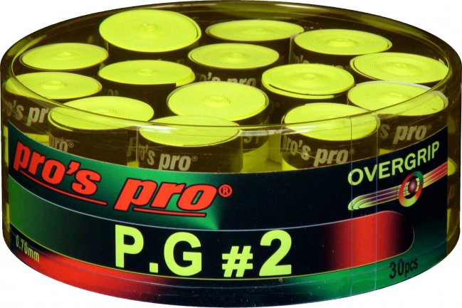 Pro's Pro Overgrip P.G.3 Perforated Lime 0.70 mm (30x) 1