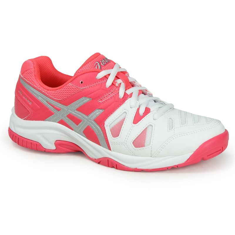 Asics Gel-Game 5 GS Bianco-Rosa-Argento Junior