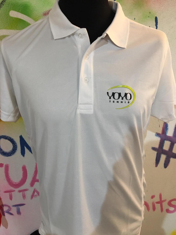 YOYO-TENNIS Polo Polyester Bianca Uomo