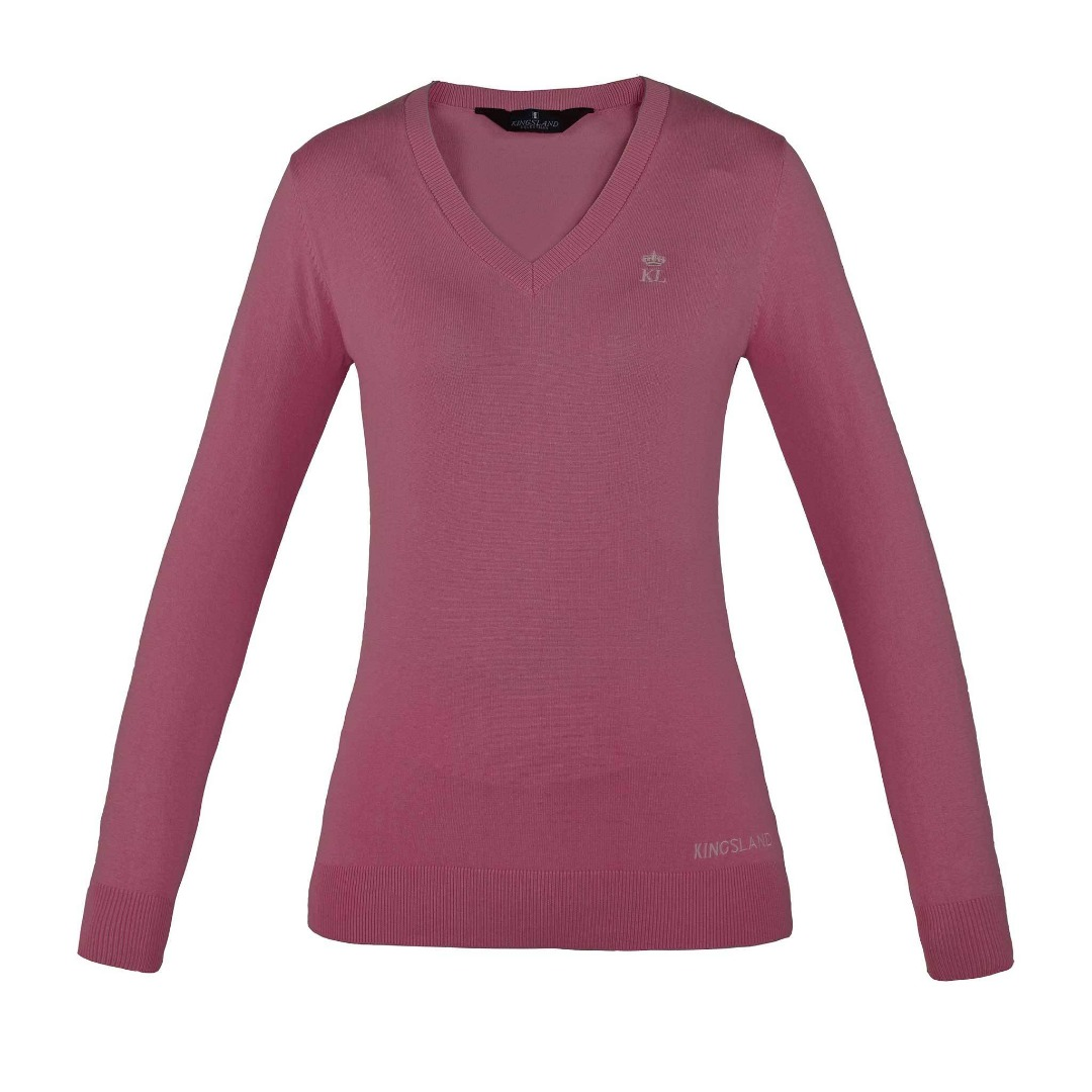 Kingsland Denia Knitted V-Neck Pink 1