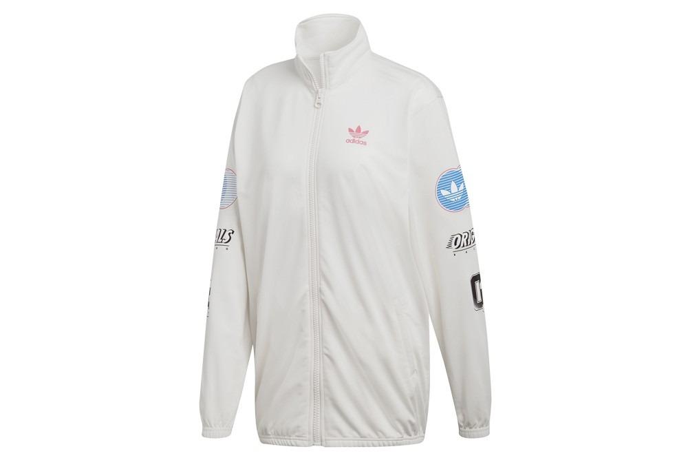 Adidas Track Top Bianco Giacchetto
