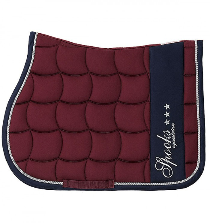 Spooks Saddle Pad Milano Bordeaux Salto 1