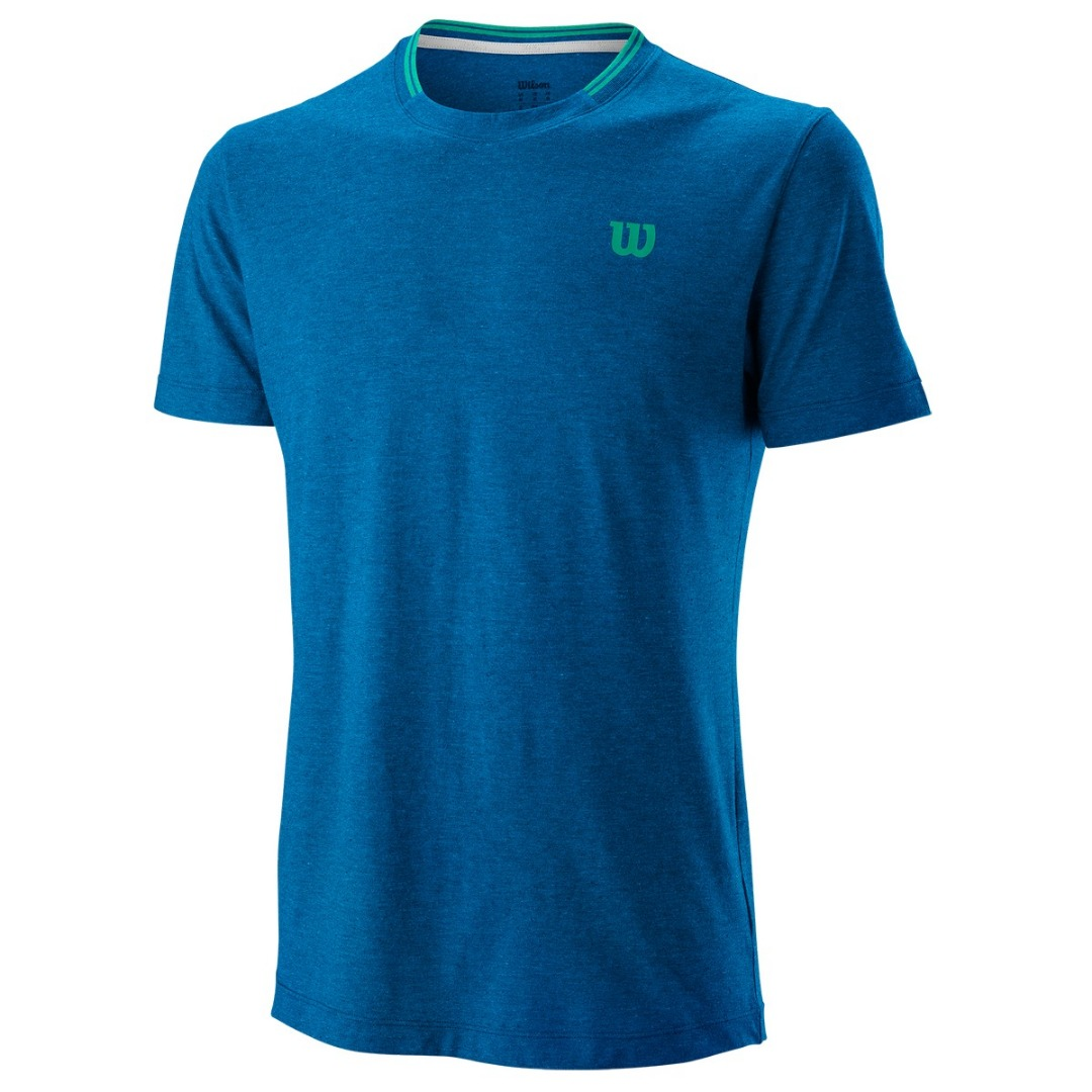 Wilson Competition Flecked Crew Blu Uomo