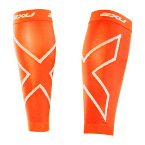 2XU Fascia Polpaccio Compressione Sleeves Arancione