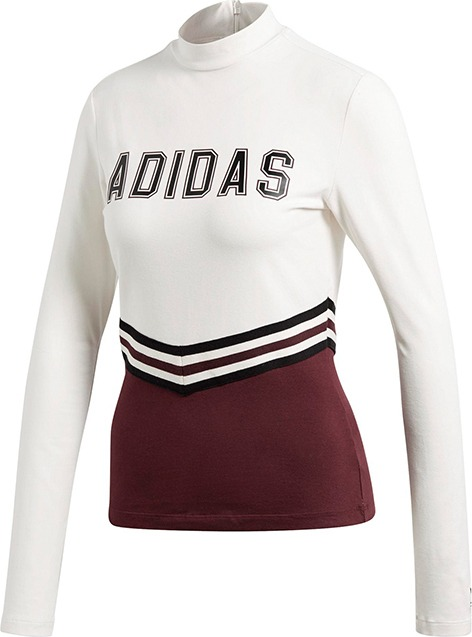 Adidas Adibreak LS Tee T-Shirt Bianco-Marrone Donna
