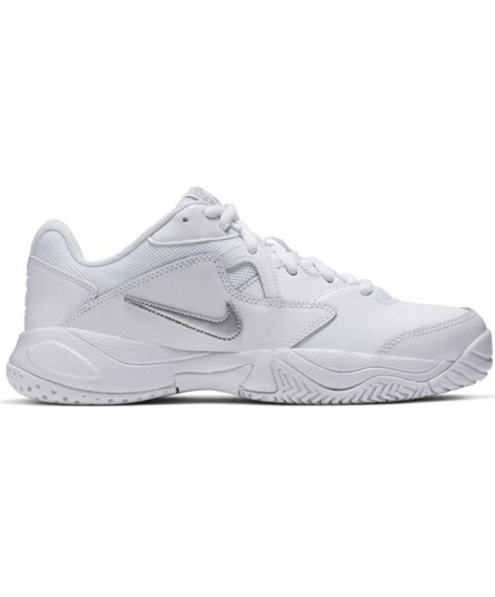 Nike Court Lite 2 White Silver Donna