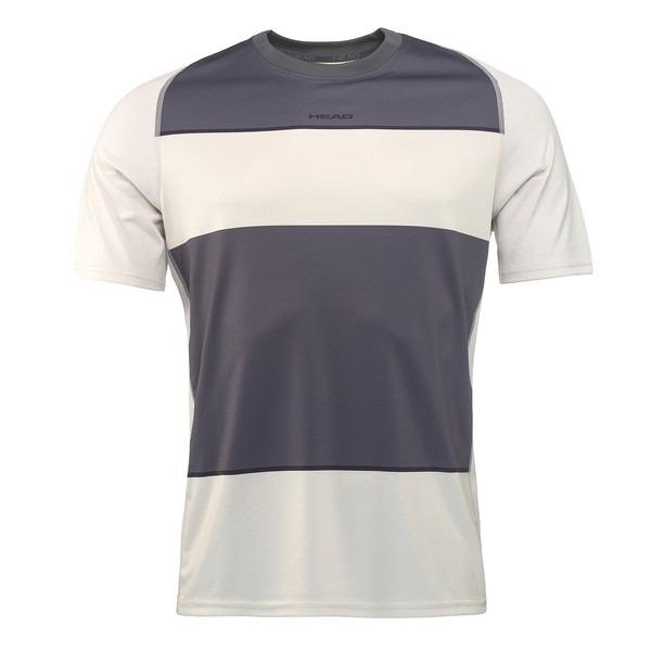 Head Vision Striped T-Shirt Grigio Uomo