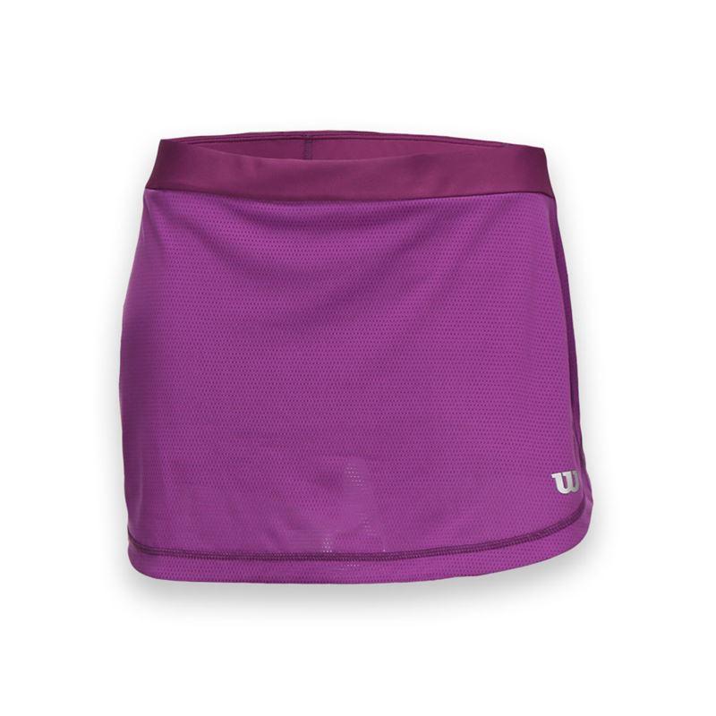 Wilson SP Mesh 12.5 Skirt Plumberry Donna