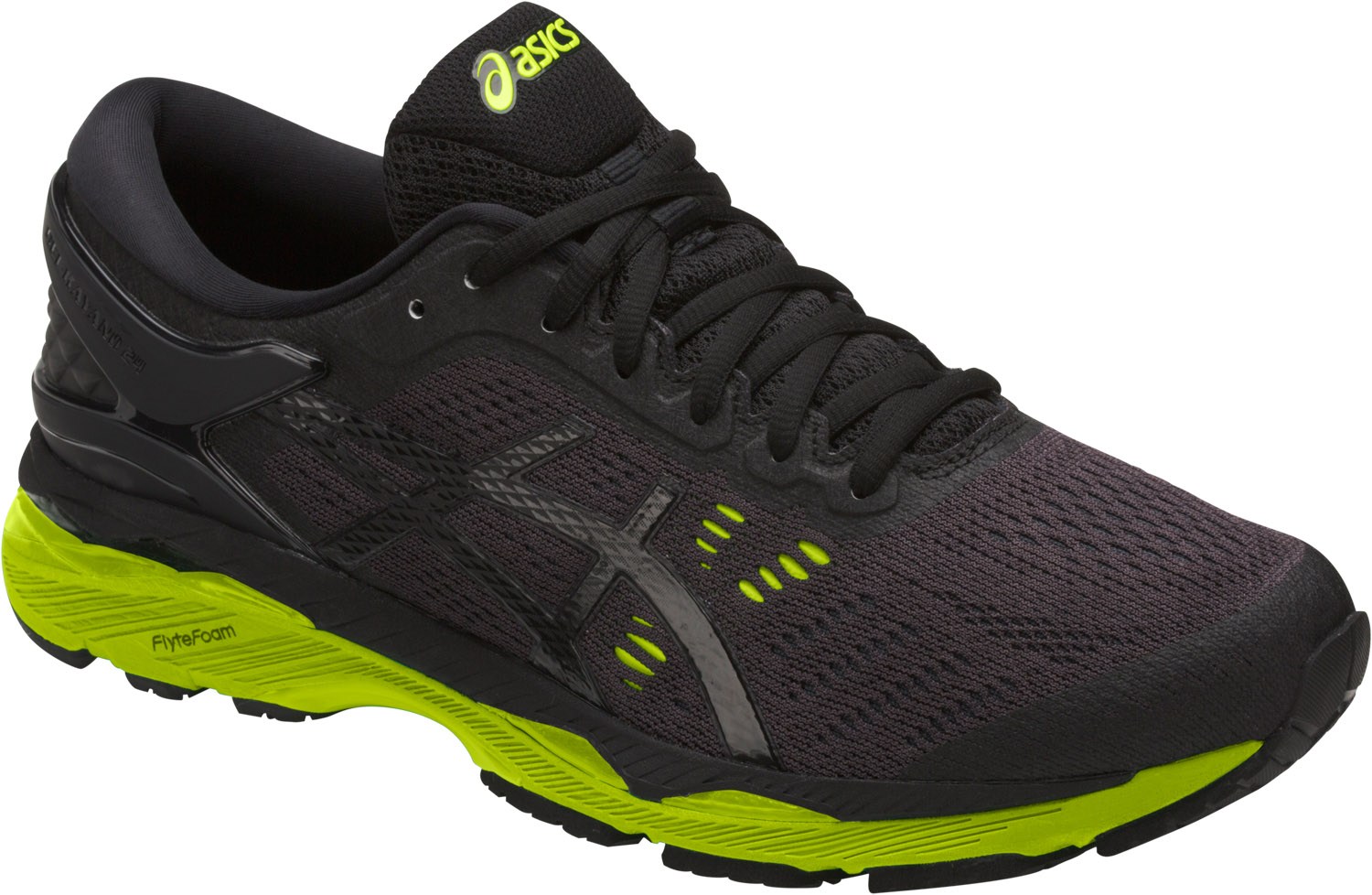 Asics Gel-Kayano 24  Black-Green-Phantom Uomo