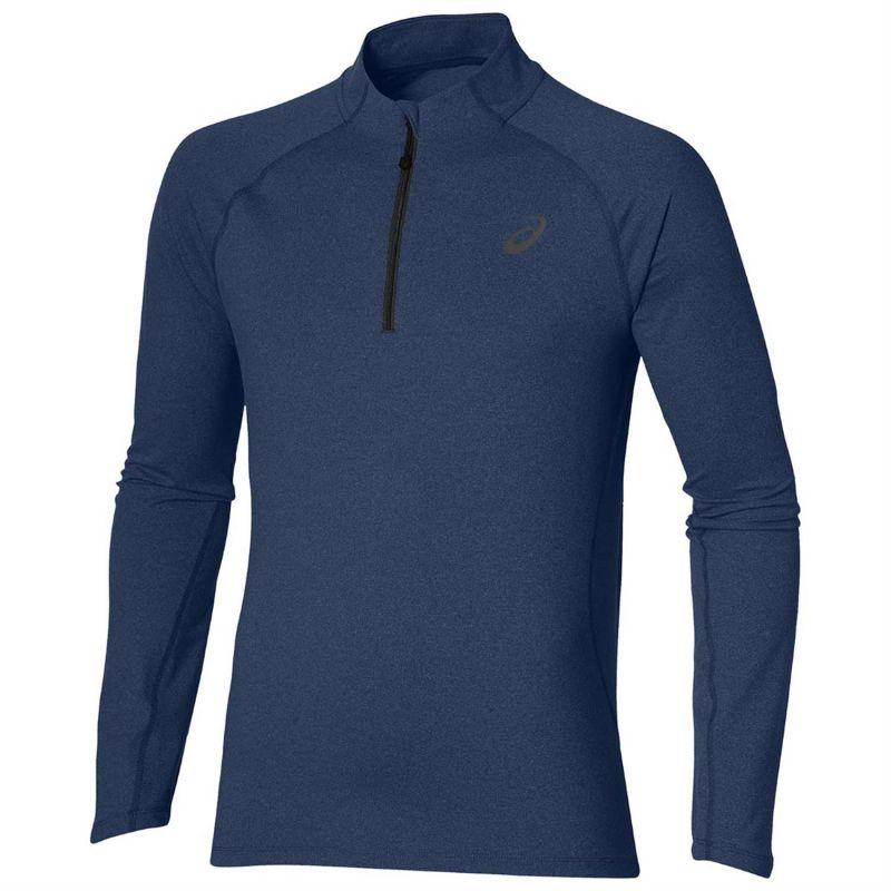 Asics T-Shirt Manica Lunga 1/2 ZipBlu Uomo 1