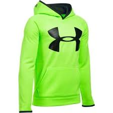 Under Armour Storm Hoodie Verde Fluo Bambino