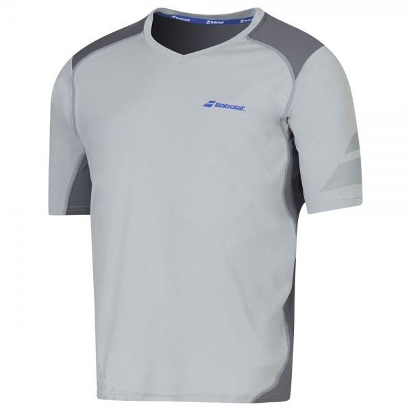 Babolat Performance V-Neck Tee Winter 2016 Grigio Uomo