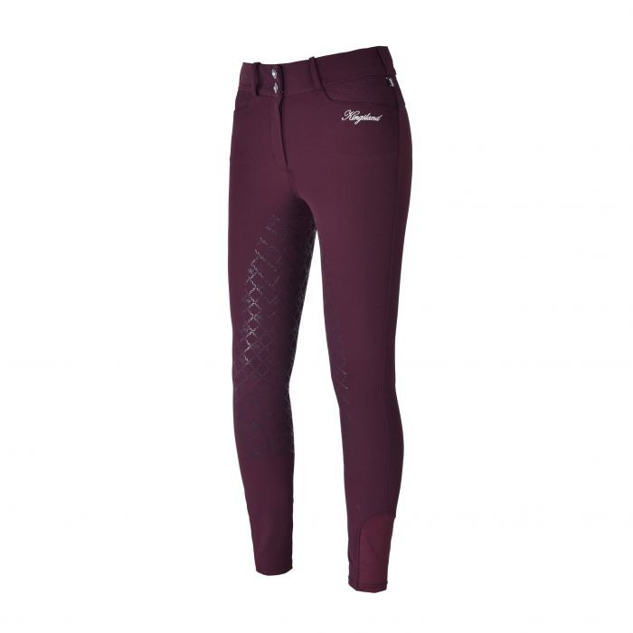 Kingsland Klkadi E-Tec Grip Breeches Bordeaux Donna 1