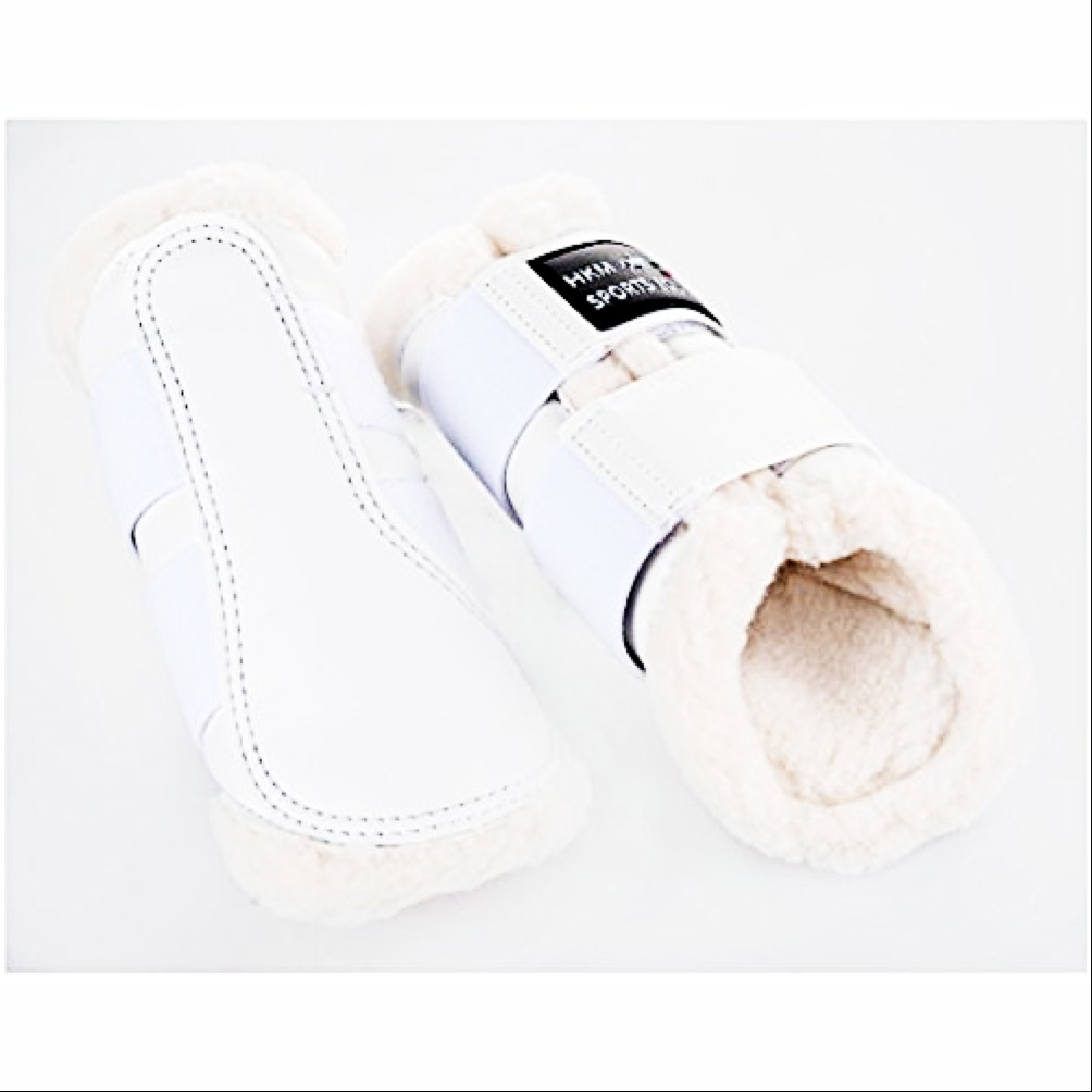 HKM Sport Equipment Gamaschen Comfort Lack Bianco 1