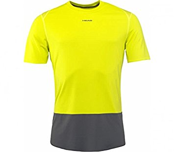 Head Vision Tech T-Shirt Giallo Uomo