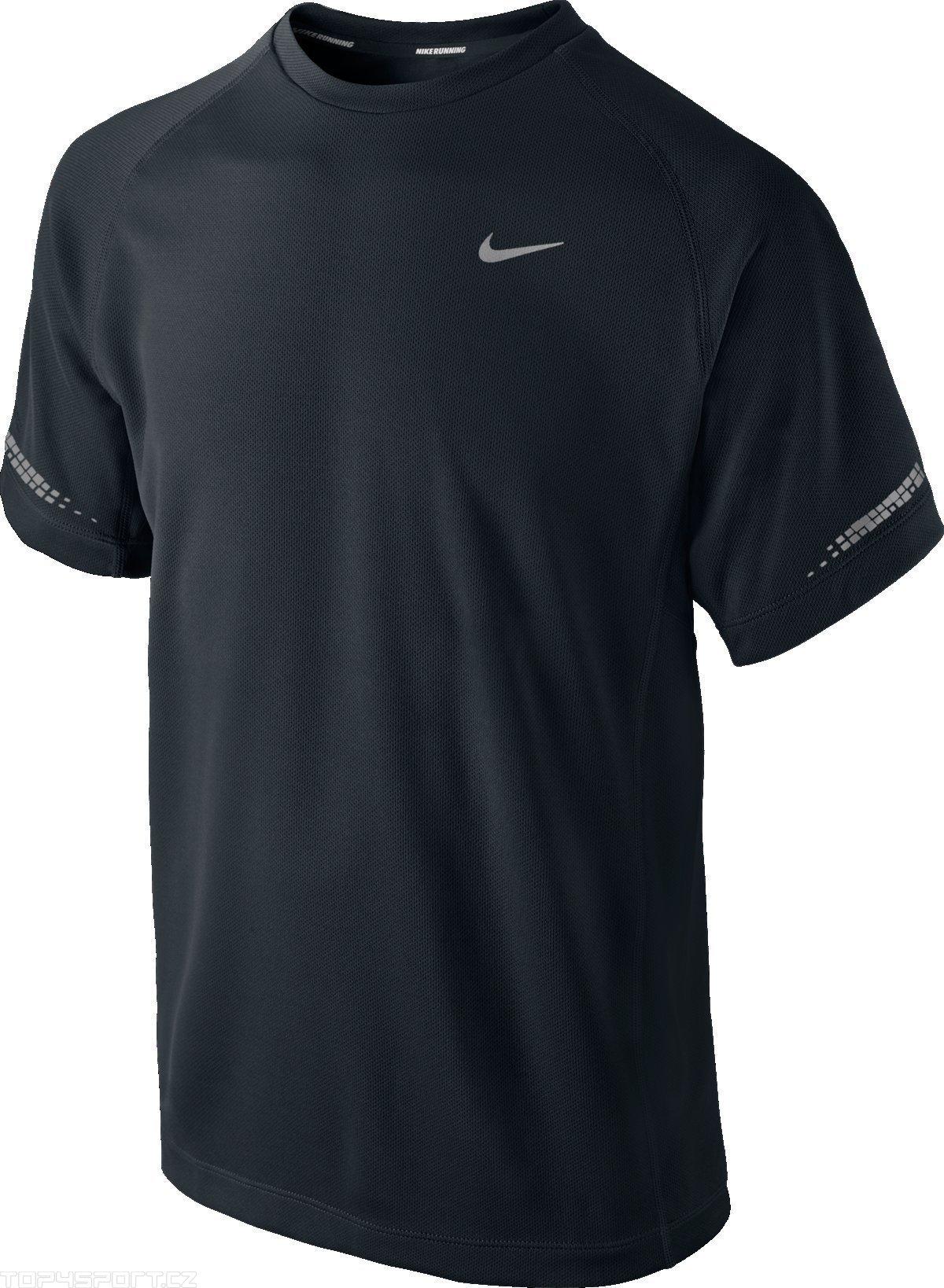 Nike Miler SS Crew Nera Bambino