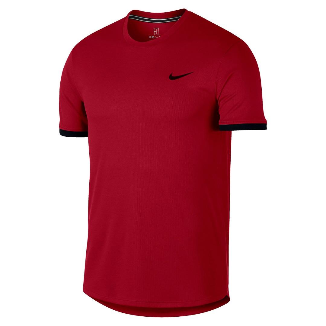 Nike Dry Court T-Shirt Crew Rosso Uomo 1