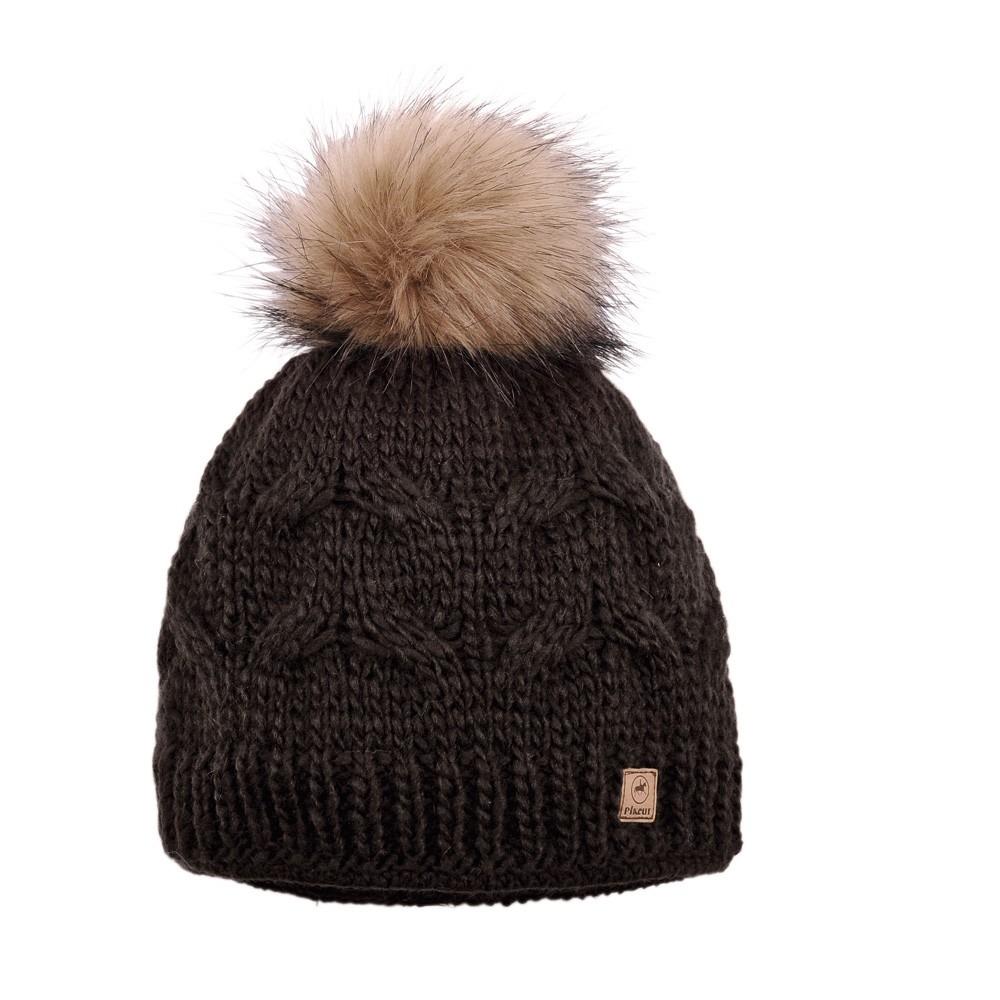 Pikeur Premium Mütze Bommel Braun