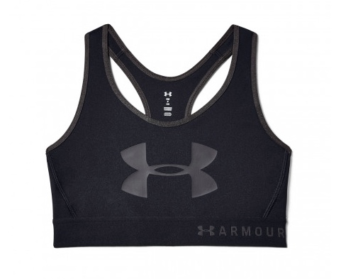 Under Armour Bra Mid Keyhole Graphic Black Donna