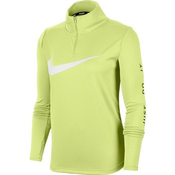 Nike 1/4-Zip Running Top Lime Donna