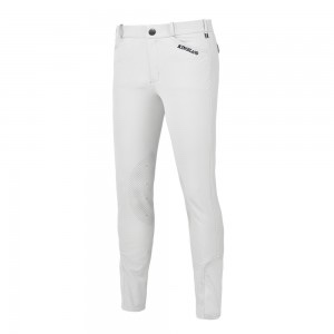 Kingsland Keto E-Tec Knee Grip Breeches Bianco Uomo