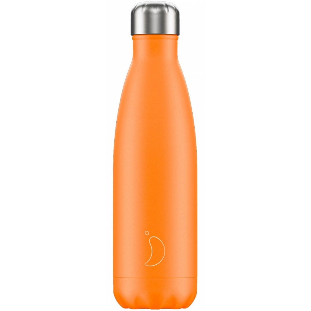 Chilly's Bottle Neon Orange 500 ml