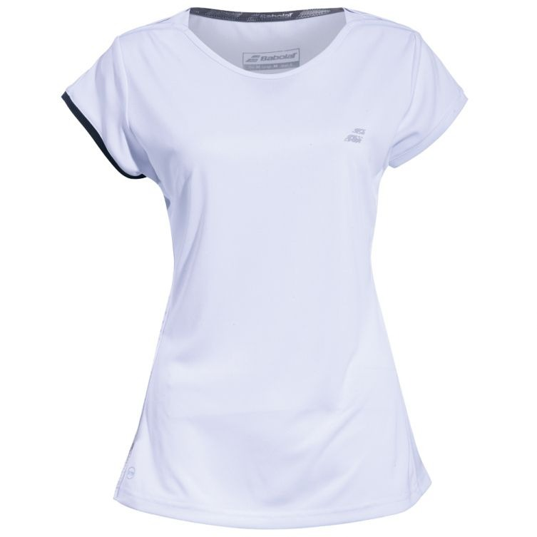 Babolat Perf Cap Sleeve Top Bianco Bambina 1