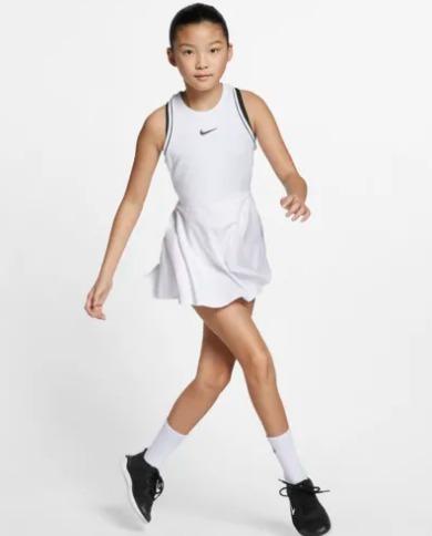 Nike Court Dress Bianco Bambina 1