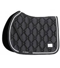 Design Saddlepad Gem Collection Dressage Onyx Black 1